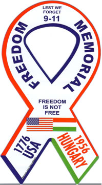 Car Magnet Freedom Memorial - 10 yrs 9/11 & 50 yrs Hungarian Revolt